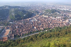 Brasov, Romania from above (click to enlarge)