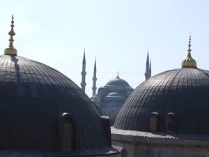 The Blue Mosque Roof in Istanbul (click to enlarge)