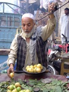 Fruit seller in Peshawar