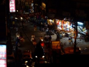 Main bazzar at night, Delhi, India