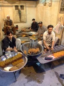 Kebab making on the streets of Pakistan