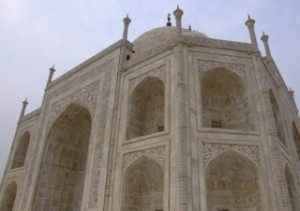 The Taj Mahal's side entrance wall