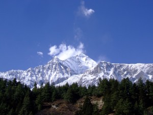 Annapurna Mountains from Pokhara, Nepal (click to enlarge)