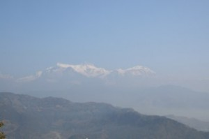 Hazy Mountains in Nepal