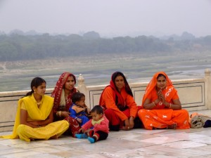 Indian Ladies at the Taj Mahal (click to enlarge)