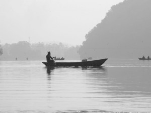 Boat on Lake Phewal Tal, Pokhara, Nepal (click to enlarge)