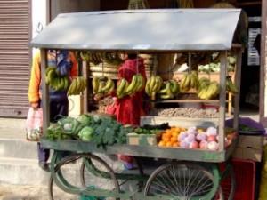Vegtable seller in Nepal