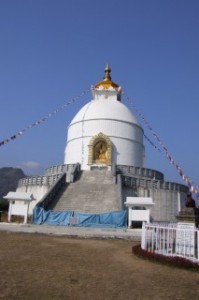 The World Peace Stupa in Nepal - Closed