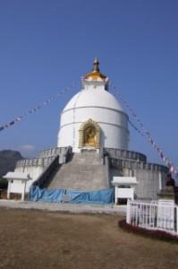 The World Peace Stupa in Nepal - Closed