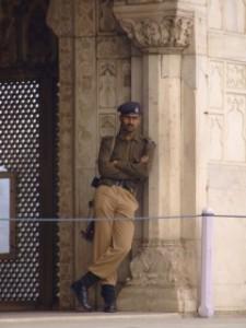 Guard on Duty in Delhi