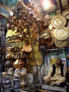 Local Brass seller in Pakistan