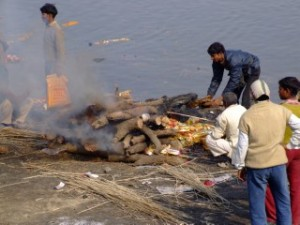 Burning Pire on the Ganges