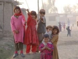Smiling Afghan Refugee Children in Pakistan