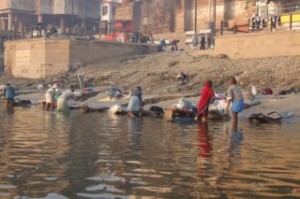 Washing Clothes in the Ganges River