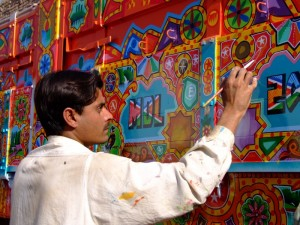 A Pakistani Truck Painter