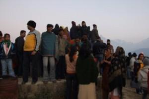 Noisy Indian Tourists at Sarangkot, Nepal