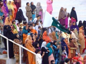 Segregated seating at the Wagah Border Ceremony