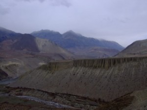First view of Nepalese Mountains