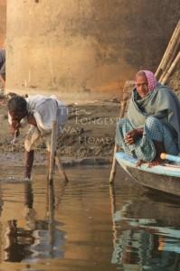Men at dawn on the Ganges, Varanasi, India (click to enlarge)