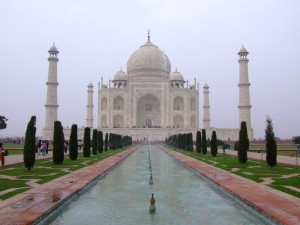 The Taj Mahal in Agra, India (click to enlarge)