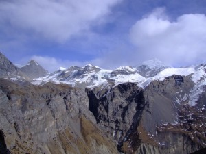 Above the Mountains, Thorung Pedi, Nepal (click to enlarge)