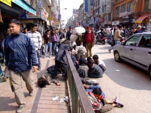 Something up on the streets of Kathmandu? (click to enlarge)