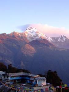 Magnificent Sunrise in Tadopani, Nepal (clcik to enlarge)
