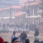 Riot Police at the ready in Nepal