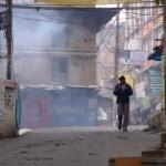 Escaping down an allyway in Kathmandu