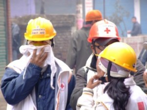 Medical teams effected by the tear gas