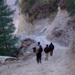Decending the Annapurna Circuit with Nepalese businessmen