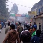 Walking into a riot, Kathmandu, Nepal