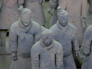 In Xi'an, The Terracotta Army stands (click to enlarge)