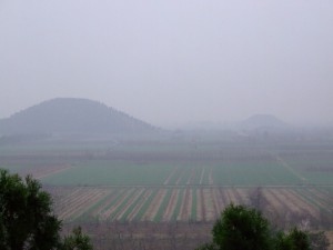 Through the rain, the lost pyramids appear (click to enlarge)