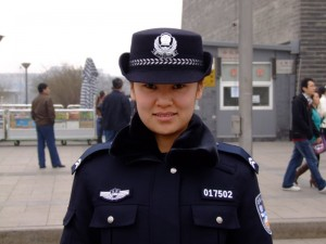 Pretty Chinese Police Woman in Beijing - the police were a lot friendlier in the capital! (click to enlarge)
