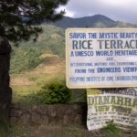 UNESCO sign for the Rice Terraces, Banaue, The Philippines