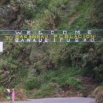 Banaue's welcome sign, Banaue, The Philippines