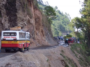 Mudslide on the way to Sagada (click to enlarge)