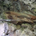 Small decomposing coffin in Sagada, The Philippines