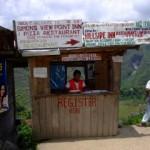 Donation kiosk at Batad, The Philippines