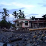 Weather beaten houses in Brooke's Point Palawan