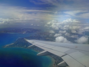 Palawan from an airplane window (click to enlarge)