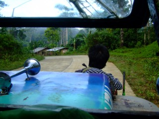 Taking a Jeepney from Sabang