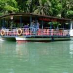 Karaoke, river boat in Bohol