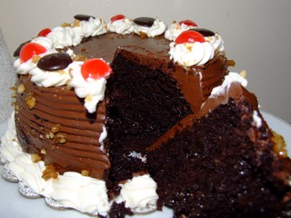 A chocolate cake from the Philippines
