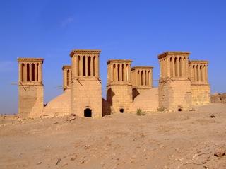 Windcatchers in an Iranian desert