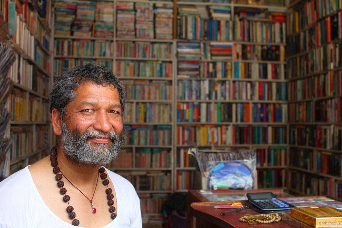 Mr Risal from Paradise book shop in Thamel Kathmandu