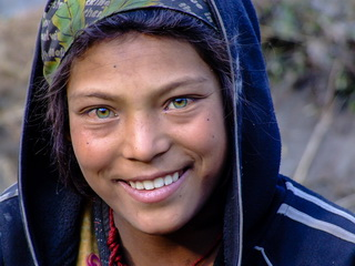 Green eyed Nepalese Girl