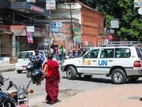 UN workers car Kathmandu
