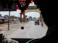 Inside bus arriving into Lumbini
